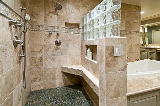Open Shower Bathroom Remodeling contractor Boston